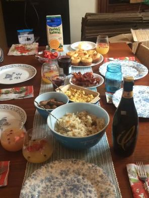 We made brunch last Sunday and we did a really good job.
